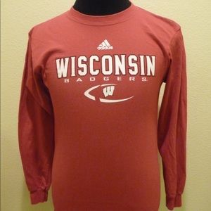 adidas Wisconsin Badgers Boys L (14/16) T-Shirt